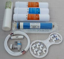 For All RO Water Filter 1Year Service Kit+80 GPD Vontron Membrane+ 1 Kemflo Spun