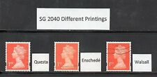 SG 2040 1st Class Machins - Different Printings (not security)