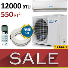 12000 BTU Ductless Mini Split Air Conditioner AC Heat Pump 1 Ton New AirCon