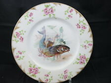 Limoges CA Charles Ahrenfeldt Gold Daubs Fish Dinner Plates Sea Shells