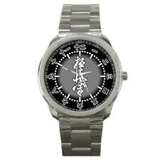 Kyokushin Karate Kanji Ultimate Logo White Black Watch
