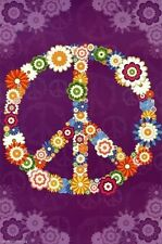 2013 FLOWER PEACE SIGN INSPIRATIONAL POSTER NEW 22x34 FAST FREE SHIPPING