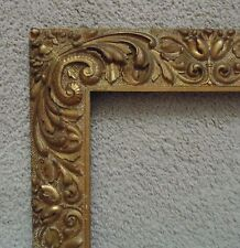 Antique 19c Picture Frame Gilt Wood & Gesso Art Nouveau Victorian for Painting M