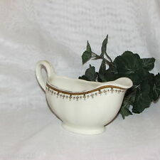 ANTIQUE GRINDLEY CREAM PETAL GRAVY BOAT TAN BLACK BAND VINTAGE DINNERWARE