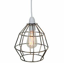 Copper Vintage Industrial Style Cage Ceiling Pendant Light Lamp Shade