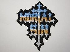 MORTAL SIN logo embroidered NEW patch thrash metal