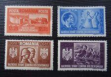 Rumänien 706-709 ** , Waffenbrüderschaft mit Deutschland , Qualitätsgrad II