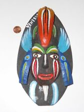 "NATIVE SOUTH AMERICAN TRIBAL WALL MASK WOOD ""VENEZUEL"""