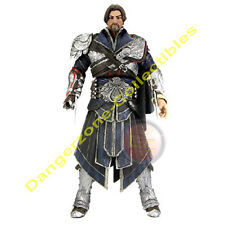 Assassins Creed Brotherhood Ezio Figura En Unhooded Onyx Outfit Por Neca-Nuevo