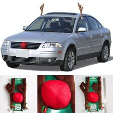 Christmas Decoration Antlers Red Nose Rudolph Reindeer Car Truck Costume set/kit