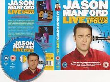 JASON MANFORD SIGNED 'LIVE AT THE MANCHESTER APOLLO' DVD COVER/SLEEVE+COA