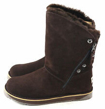 Tundra Womens Alpine Winter Boot Suede & Shearling Brown SIze 8 US