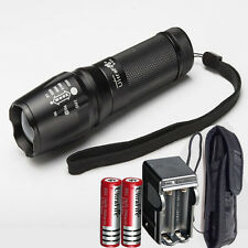 10000LM UltraFire CREE XM-L T6 LED Flashlight Focus Torch Zoom Light +2x 18650