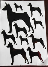 Basenji vinyl stickers decals for car, van, window