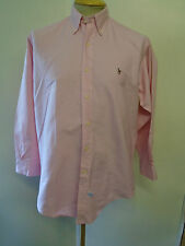 Ralph Lauren POLO men's Pink Long Sleeved Casual Shirt Loose Fit Size M 38-40