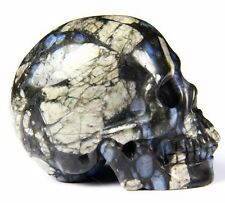 """2.0"""" BLUE OPAL Carved Crystal Skull, Realistic, Crystal Healing"""