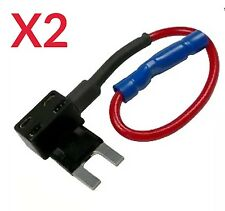 ADD A CIRCUIT MINI FUSE HOLDER PIGGYBACK FUSE CAR X2