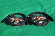 10 Ft Pig-Hog Microphone Mic  XLR 8mm Tour Grade Quality Cable, 2-Pack