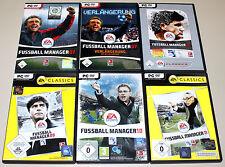 6 PC Giochi raccolta-EA FIFA CALCIO manager 07 estensione 08 09 10 11