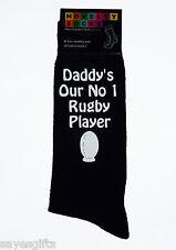 Daddy's Our n. 1 Rugby Player Uomo Nero CALZINI padri giorno o di compleanno regalo papà