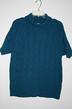 Jones New York 2X Blue Short Sleeve Turtleneck Sweater