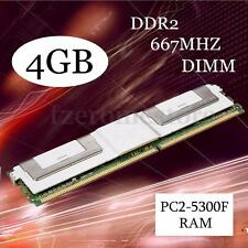 New 4GB DDR2 PC2-5300F 667MHz 240Pin DIMM RAM Memory ECC Server CL5 Fast Reading