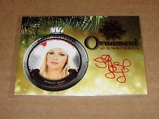 2015 Benchwarmer TIFFANY SELBY #104 Holiday Red Ornament Autograph #1/1 PLAYBOY