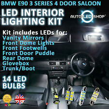 BMW E90 3 SERIES SALOON LED INTERIOR UPGRADE COMPLETE KIT SET BULB XENON WHITE