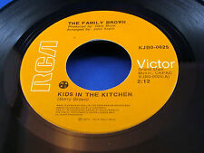 FAMILY BROWN - Kids In The Kitchen / Grief Is A Knot - 1973 NEAR MINT- Canada 45