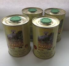 EXTRA VIRGIN Greek  OLIVE OIL 1 Litre  (Superior Quality 4 X 250ml tins)