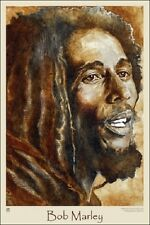 BOB MARLEY WATERCOLOUR POSTER (91x61cm)  NEW WALL ART PICTURE PRINT