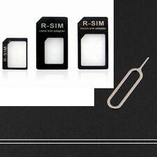 2 sets Nano Sim Card Adapter Adaptor Converter Tray Holder to Micro+Regular SIM