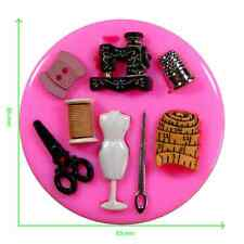 Sewing Scissors Mannequin Thimble Mothers Day Silicone Mould by Fairie Blessings