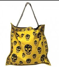 Alexander McQueen Yellow Canvas Tote Bag
