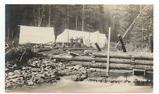 1912 Photo showing Lower Dam with Men and Tents at Juneau Alaska