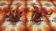 2 EXTREMELY RARE BAKUGAN PYRUS HEX DRAGONOID/VIPER HELIOS ANIME JAPANESE MINT
