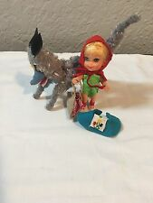 Vintage Mattel Liddle Kiddles Red Riding Hiddle Hood And Wolf