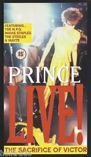 PRINCE / LIVE! - THE SACRIFICE OF VICTOR - VHS VIDEO CASSETTE PAL * NEW *