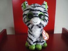 Ty Beanie Boo ZIG ZAG the zebra 6 inch NWMT. SPARKLY EYES,FEET & EARS