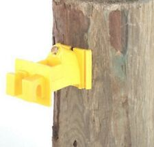 Dare Products Electric Fence 25pk Yellow Snug Wood Post Insulator SNUG-SWP-25