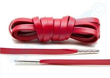"1 New Pair Red/ Silver 63"" Luxury Flat Leather Sneaker shoe Lace Royal Jordan"