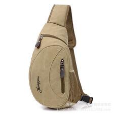 Men's Canvas Backpack Chest Pack Handbag Shoulder Bag Satchel Crossbody Sports