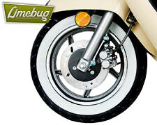 """Scooter White Wall Toppers Tyres Set 10"""" Skinny Whitewalls Band Wheel Moped Bike"""