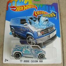 HOTWHEELS CUSTOM '77 DODGE CUSTOM VAN COLOR SHIFTERS WHITE YEAR 2007 RARE