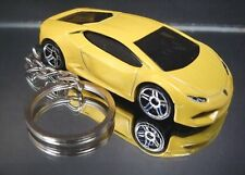 Lamborghini Huracan LP610-4 Key Chain Ring Yellow Diecast 3D Fob