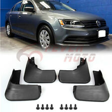 4Pcs Car Black Mud Flaps Splash Guards Fender Kit For VW Jetta MK6 2015-2016 FM