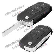 3B Panic Flip Key FOB Shell Remote keyless Case Replacement for Volkswagen VW