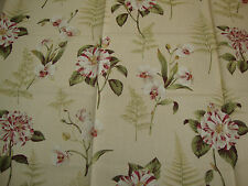 230cm SANDERSON Lavinia Fern shabby chic upholstery fabric remnant   orchid rose