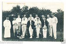 Postcard original photograph RP Astwood bank cricket team A4