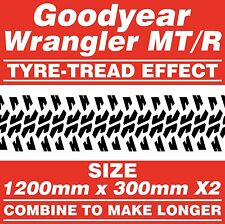 Goodyear Wrangler MT/R Tyre Tread 4x4 Off Road Cut Vinyl Graphic Stickers